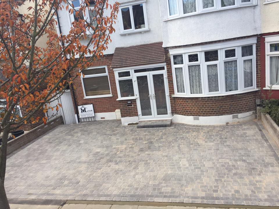 Essex Driveway Block Paving from above