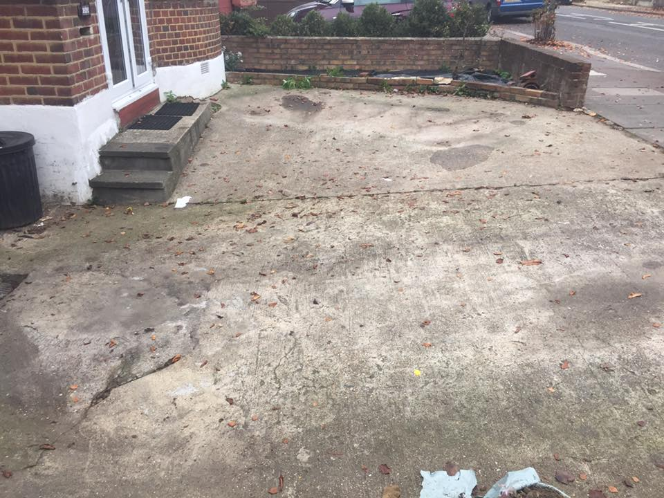 old concrete driveway removed