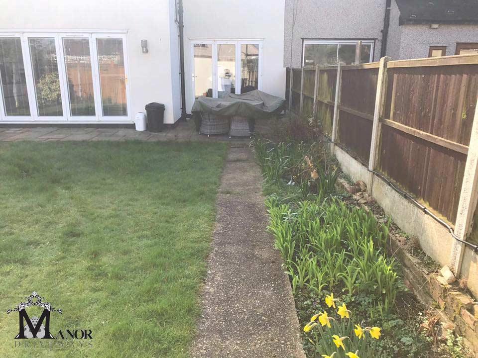 Before Garden Transformation Essex