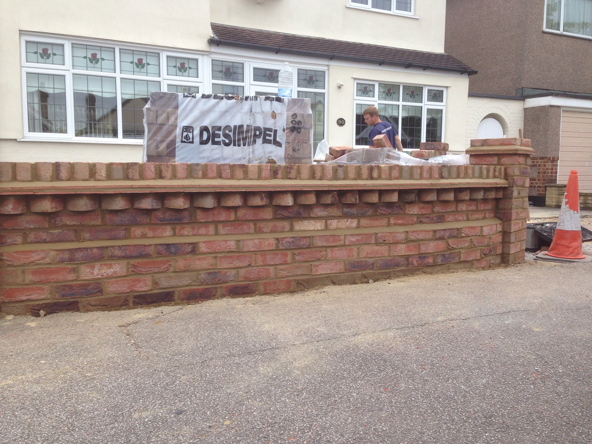 essex landscape gardening decorative walling