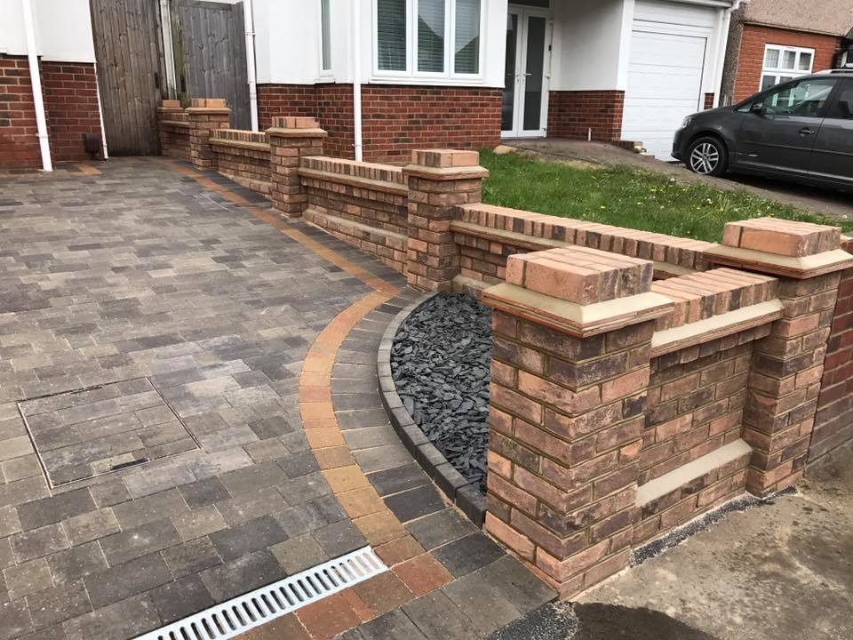 Essex Wall Driveway Landscaping
