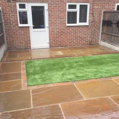 Indian Sandstone Garden Transformation